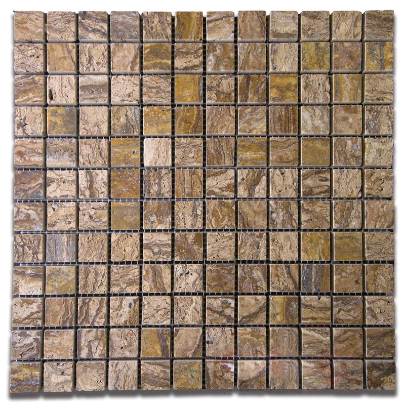 01ALPI01-ALP 1x1 Travertine Mosaic Tile - Discount Tile®