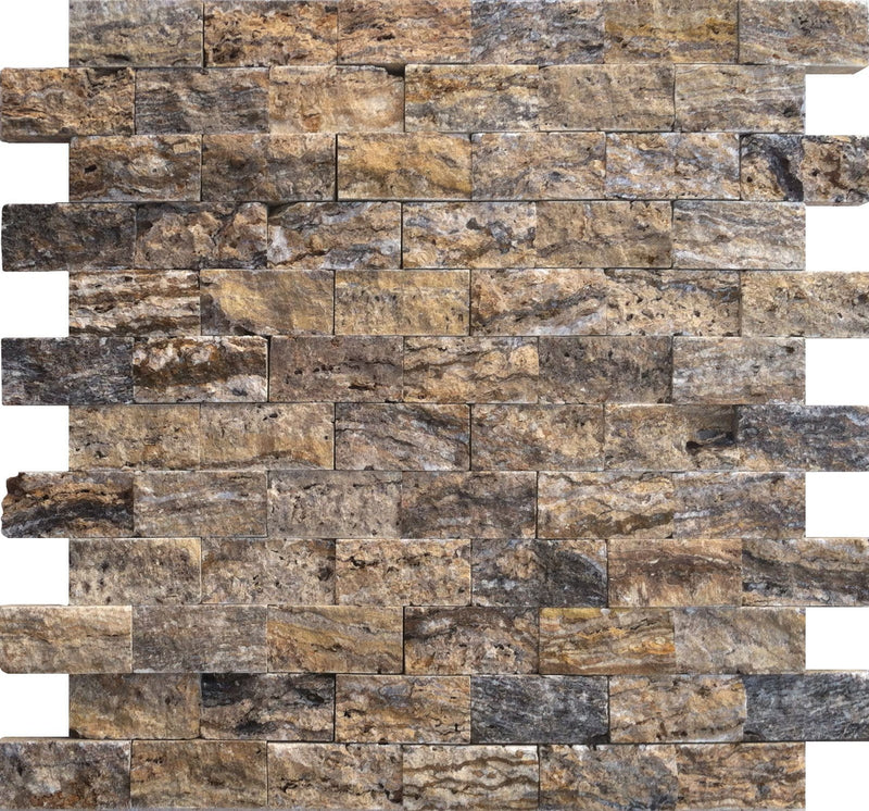 01ALPI2-ALP 1x2 Travertine Mosaic Tile - Discount Tile®