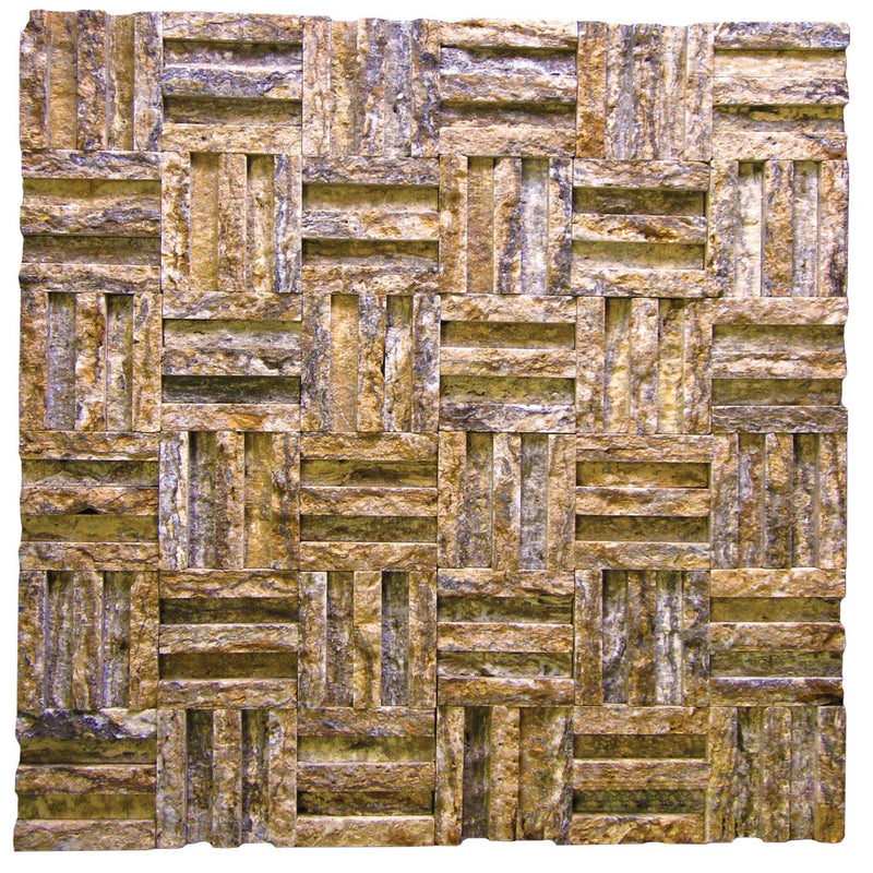 "02ALPICH-ALP 2"" Cross Hatch Travertine Mosaic Tile - Discount Tile®"