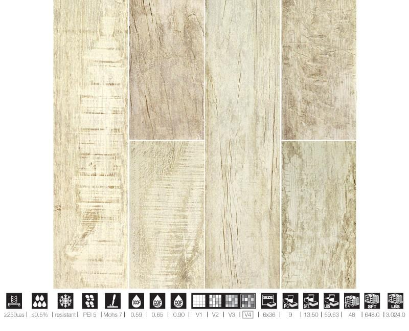06CHAL36-ARC 6x36 Porcelain Tile