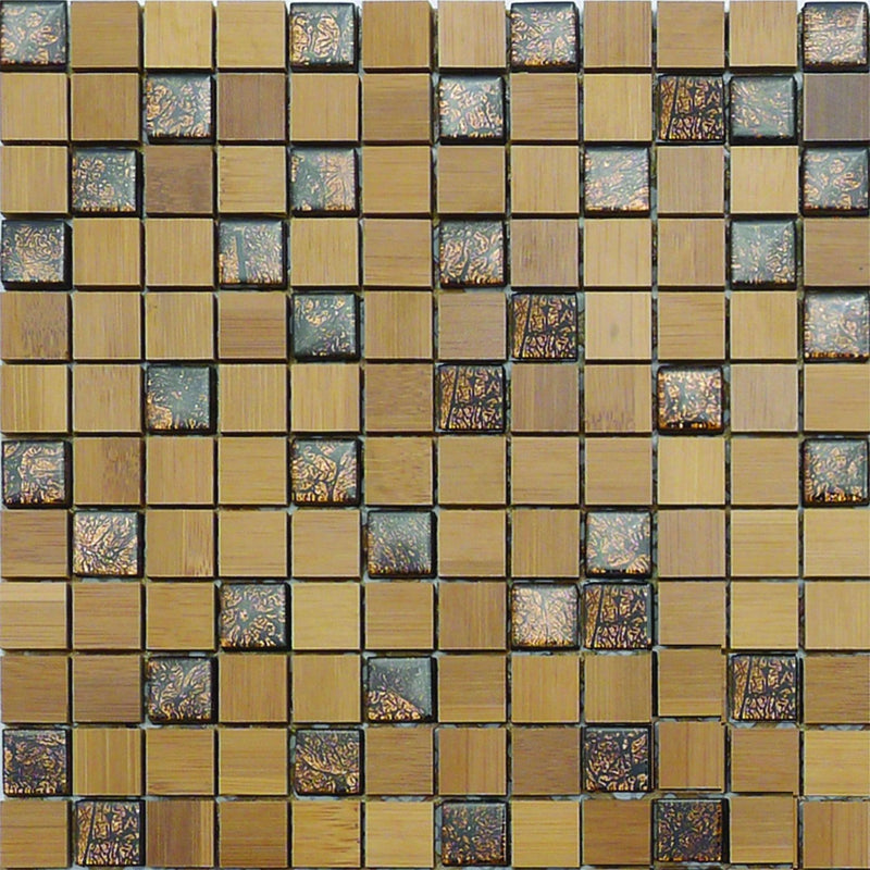 01GLAS01-BA23 1x1 Glass Mosaic Tile
