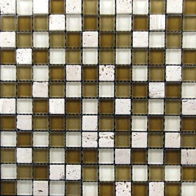 01GLAS01-BT-002 1x1 Glass Mosaic Tile - Discount Tile®