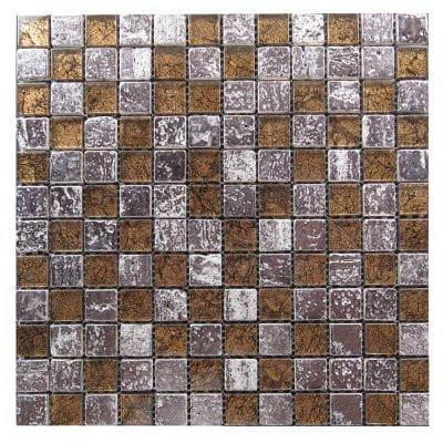 01GLAS01-BT-006 1x1 Glass Mosaic Tile - Discount Tile®