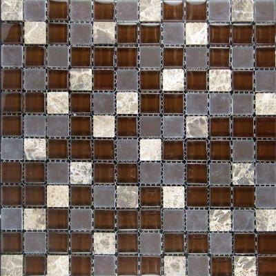 01GLAS01-GM-305 1x1 Glass Mosaic Tile - Discount Tile®