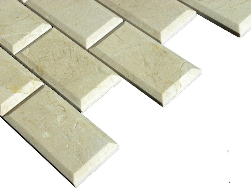 02CRMA04-PPE 2x4 Marble Mosaic Tile - Discount Tile®