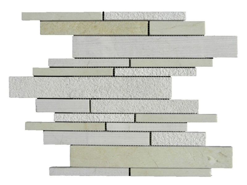 12CRMA12-DEC Deco Strip Marble Mosaic Tile