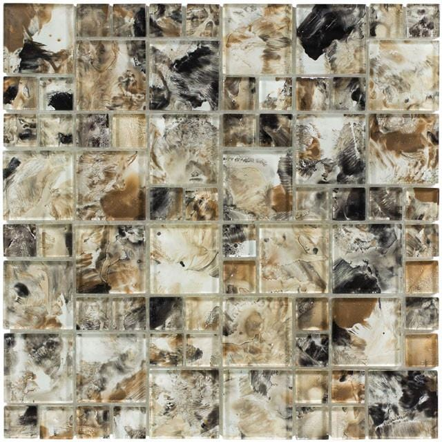 12MONE12-EAR 1x1 & 2x2 Glass Mosaic Tile