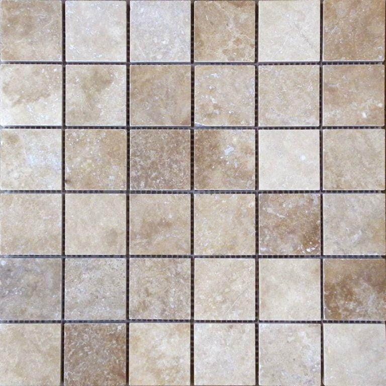 02ENWA02-ENW 2x2 Travertine Mosaic Tile - Discount Tile®