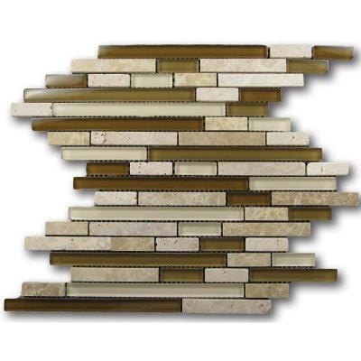 12GLAS12-GM15Z-013 12x12 Glass Mosaic Tile