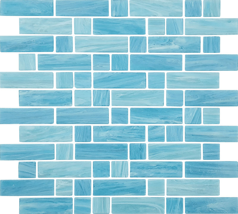 12DASH12-CAS 1x1 & 1x3 Glass Mosaic Tile
