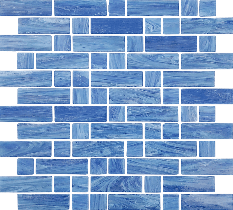 12DASH12-LAB 1x1 & 1x3 Glass Mosaic Tile