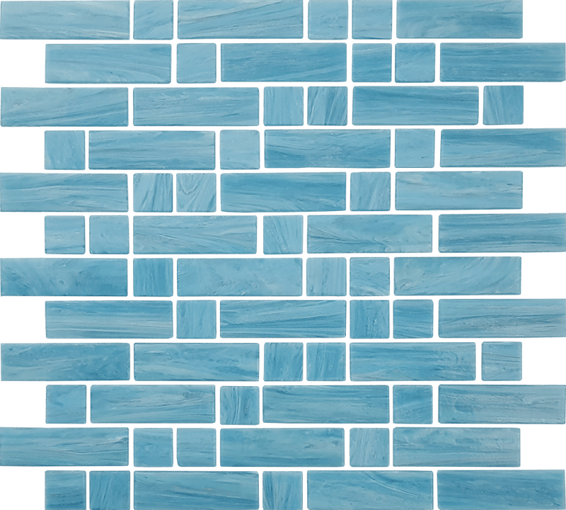 12DASH12-ION 1x1 & 1x3 Glass Mosaic Tile