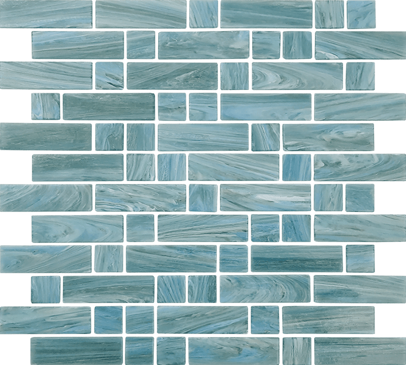 12DASH12-JAV 1x1 & 1x3 Glass Mosaic Tile
