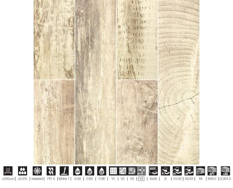 06CHAL36-NAT 6x36 Porcelain Tile