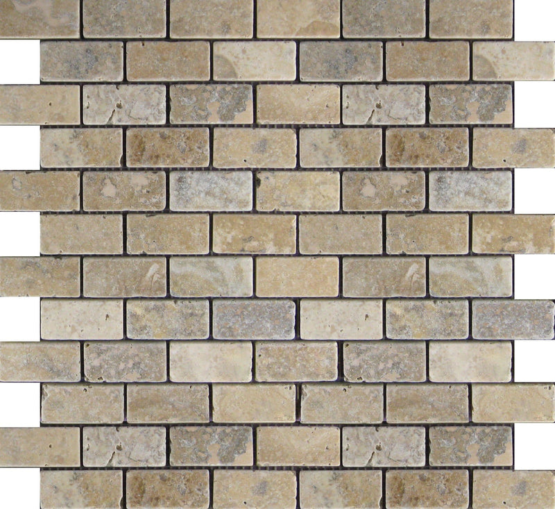 01PHIL02-PHI 1x2 Travertine Mosaic Tile