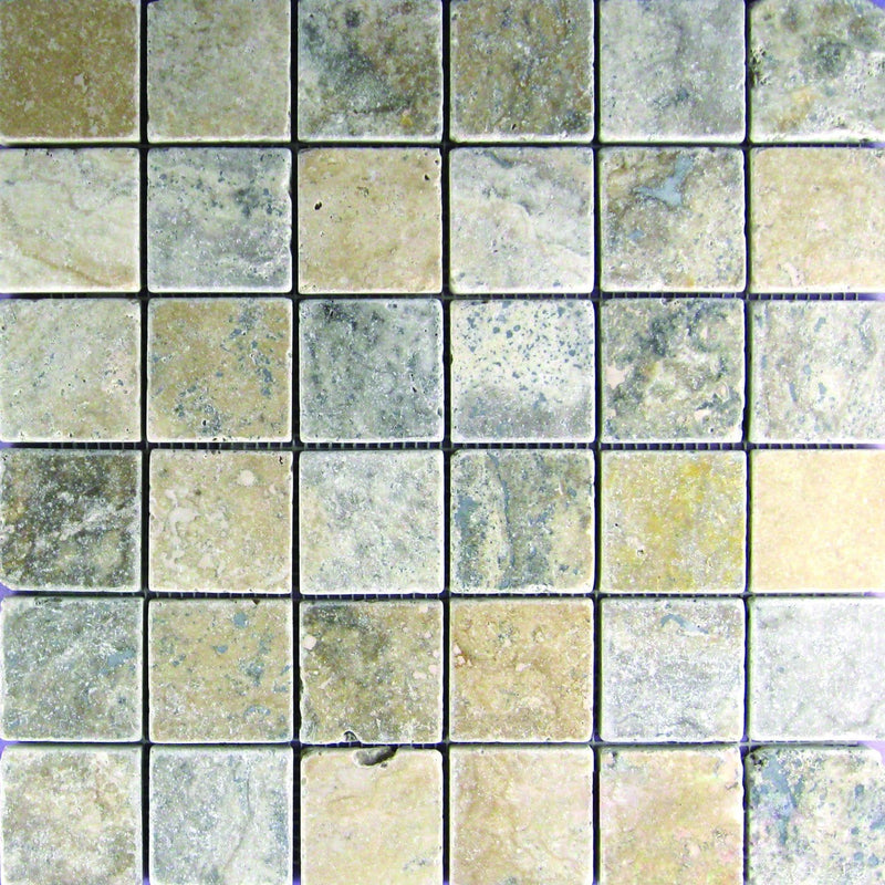 02PHIL02-PHI 2x2 Travertine Mosaic Tile - Discount Tile®