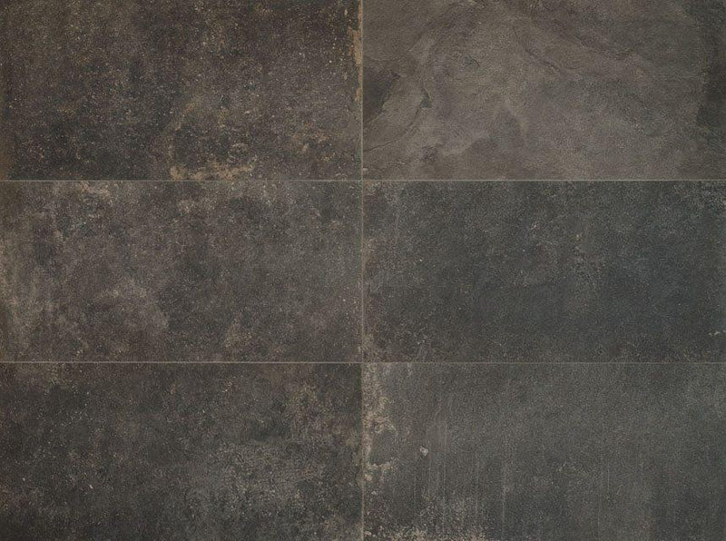 12ROCK24-BLA 12x24 Porcelain Tile