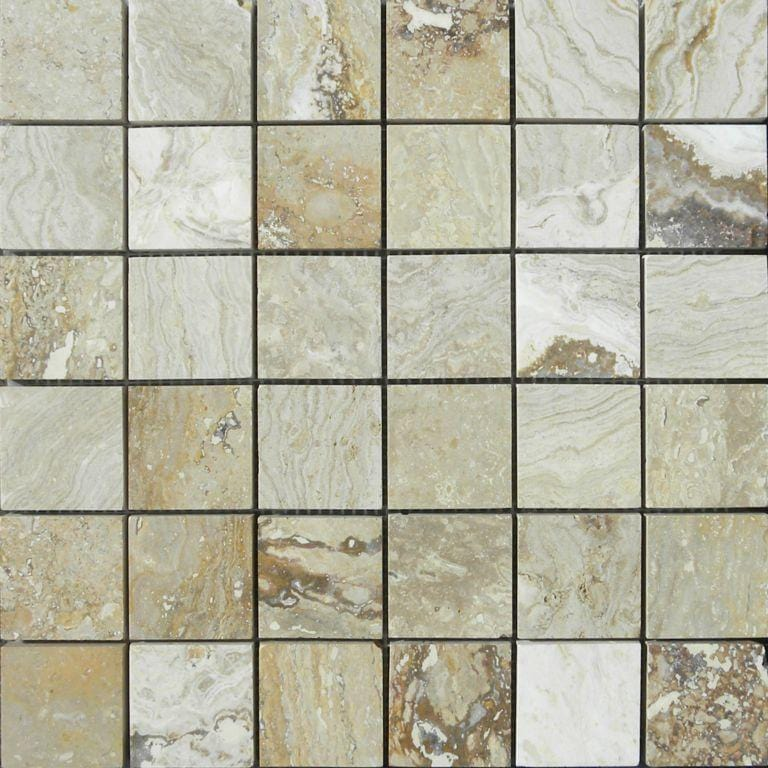 02RIVI02-RIV 2x2 Travertine Mosaic Tile - Discount Tile®