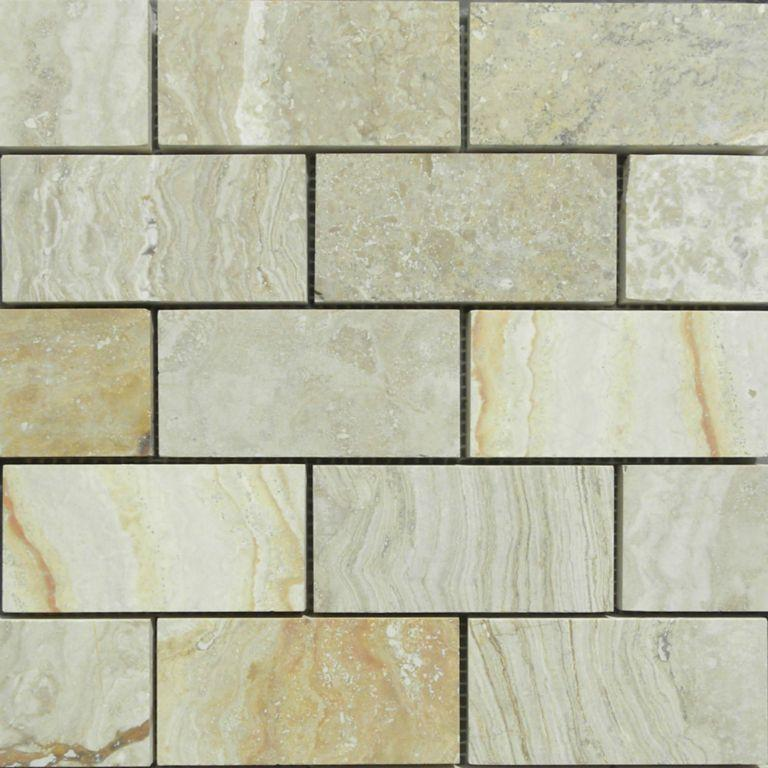 02RIVI04-RIV 2x4 Travertine Mosaic Tile - Discount Tile®