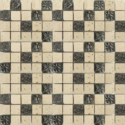 01GLAS01-TC-009 1x1 Glass Mosaic Tile