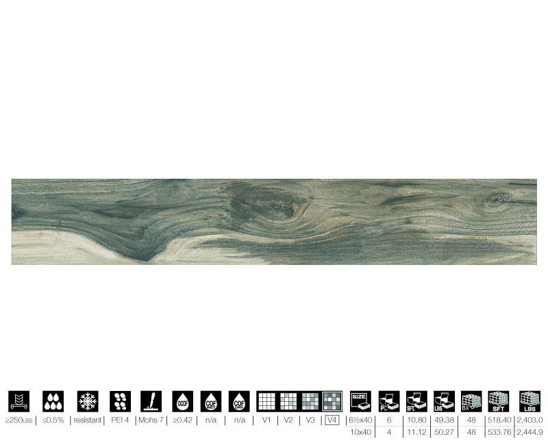 07ALWO40-TEA 7x40 Porcelain Tile