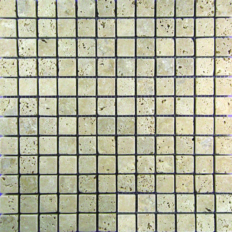 01WALN01-TUM 1x1 Travertine Mosaic Tile - Discount Tile®