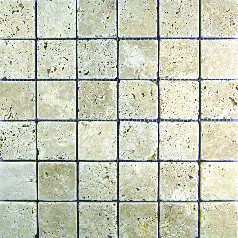 02WALN02-TUM 2x2 Travertine Mosaic Tile - Discount Tile®