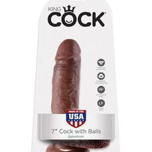 KING COCK - 7 COCK W/ BALLS BROWN