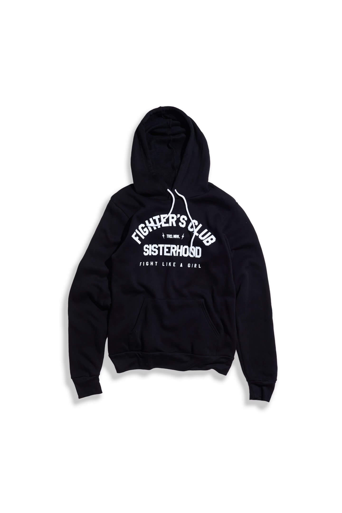 FULL LENGTH SISTERHOOD HOODIE - BLACK