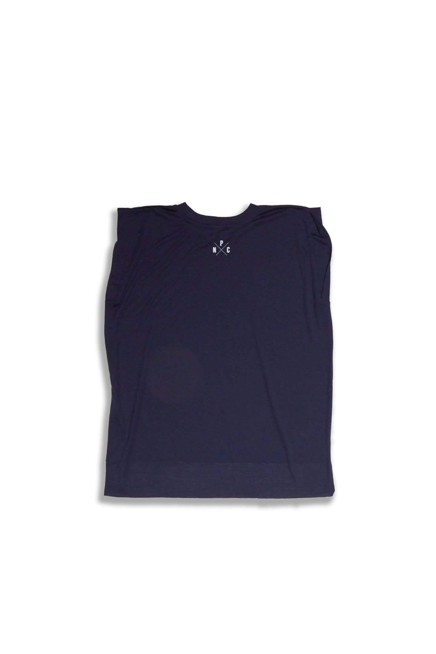WARRIOR MUSCLE TEE - NAVY BLUE