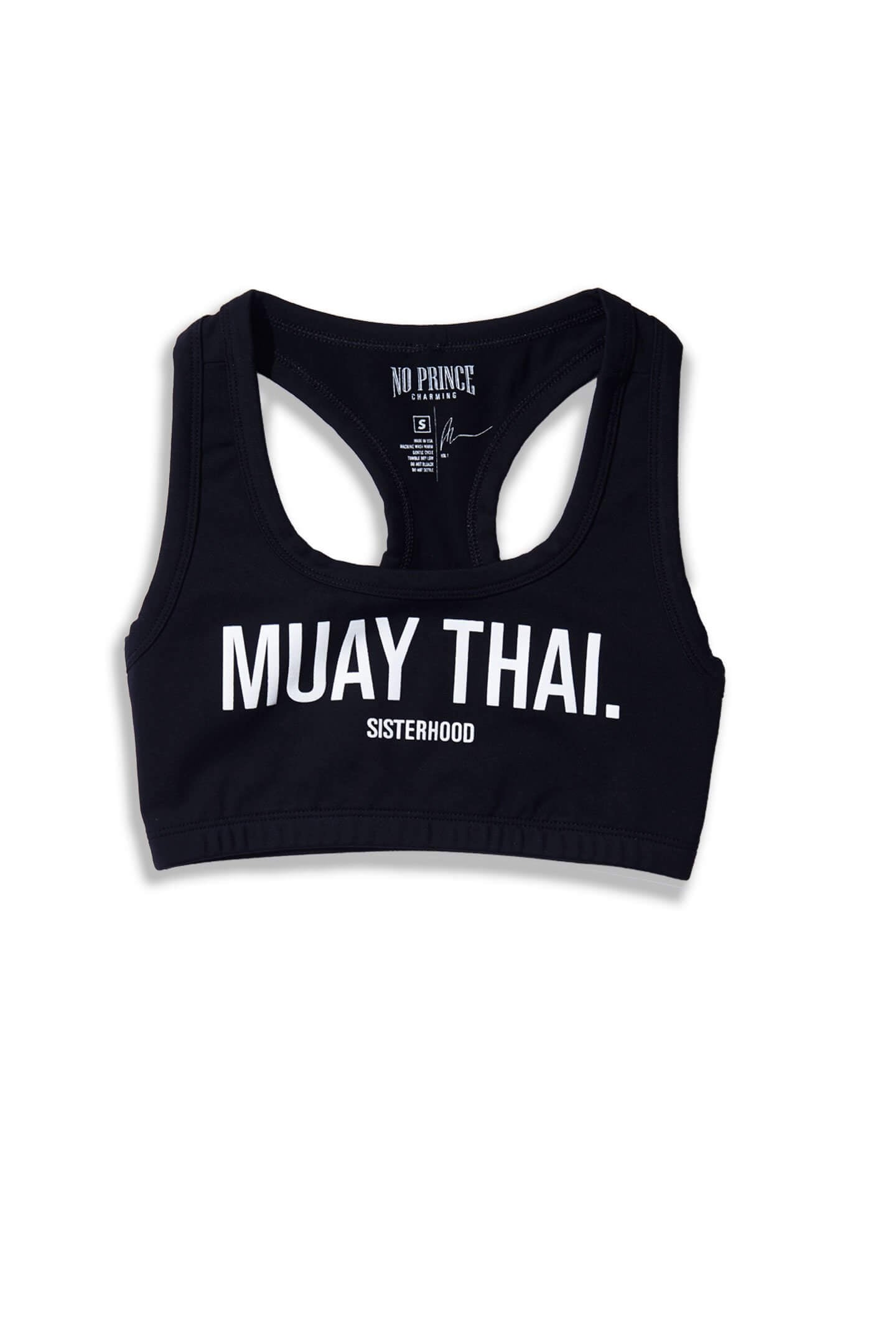 MUAY THAI SPORTS BRA - BLACK