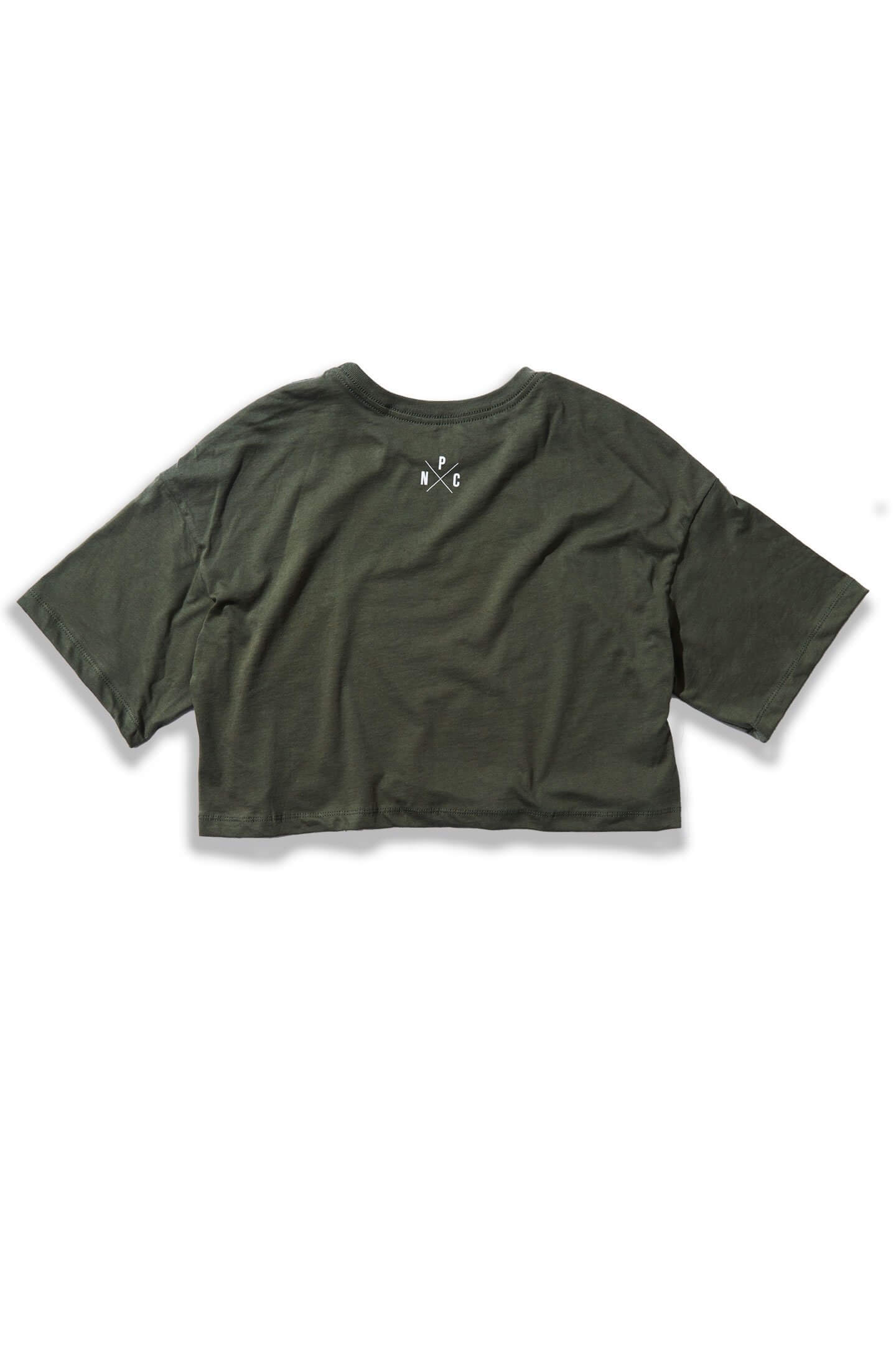 OVERSIZED MUAY THAI CROP TEE - OLIVE