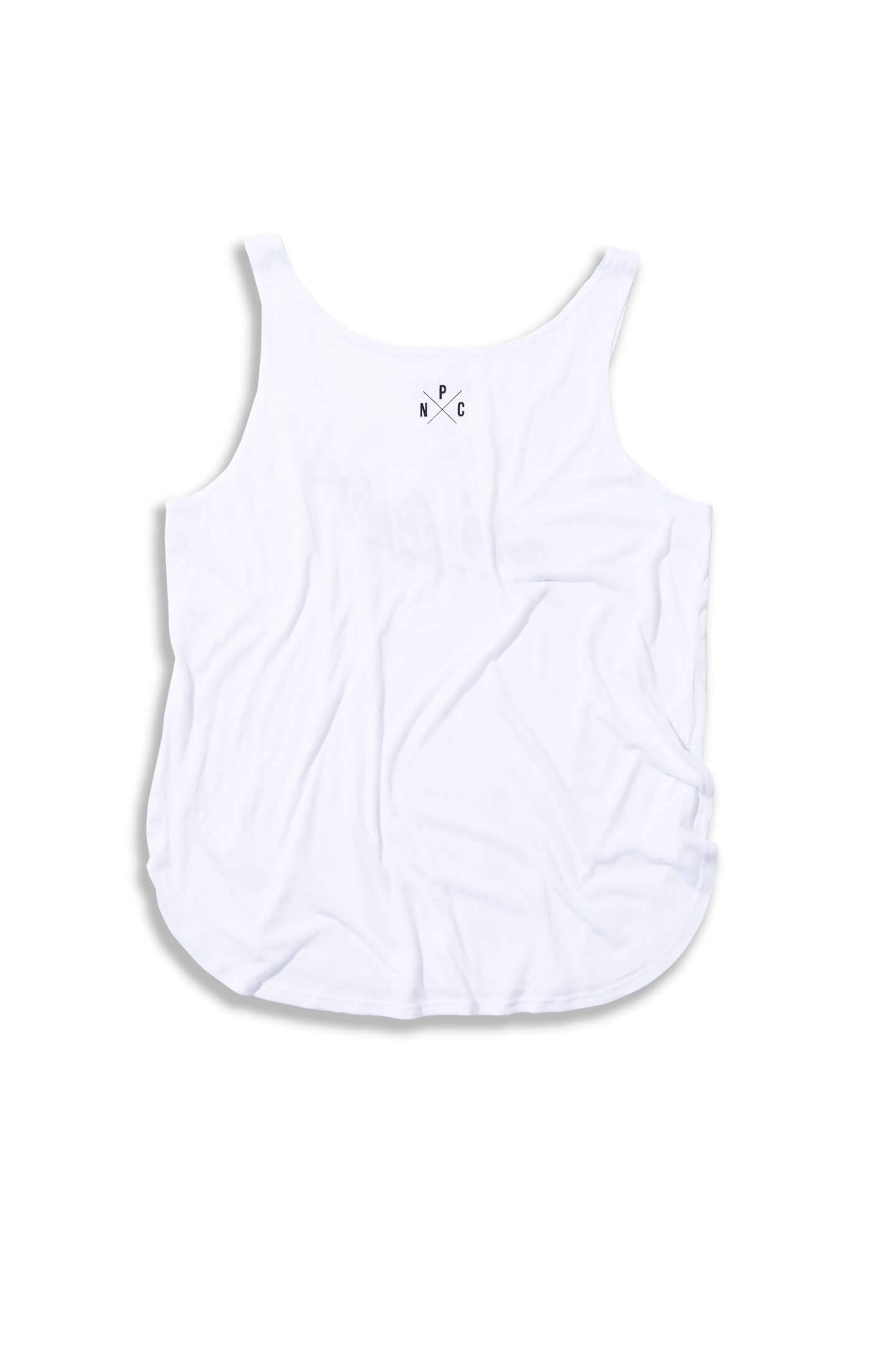 FULL LENGTH GIRLS FIGHT TANK - WHITE