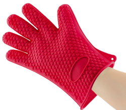 Heat Resistant Silicone Oven Gloves with Non-slip Grip