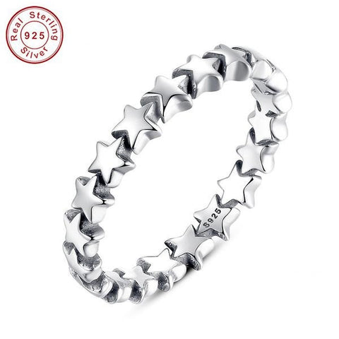 925 Sterling Silver Star Trail Ring