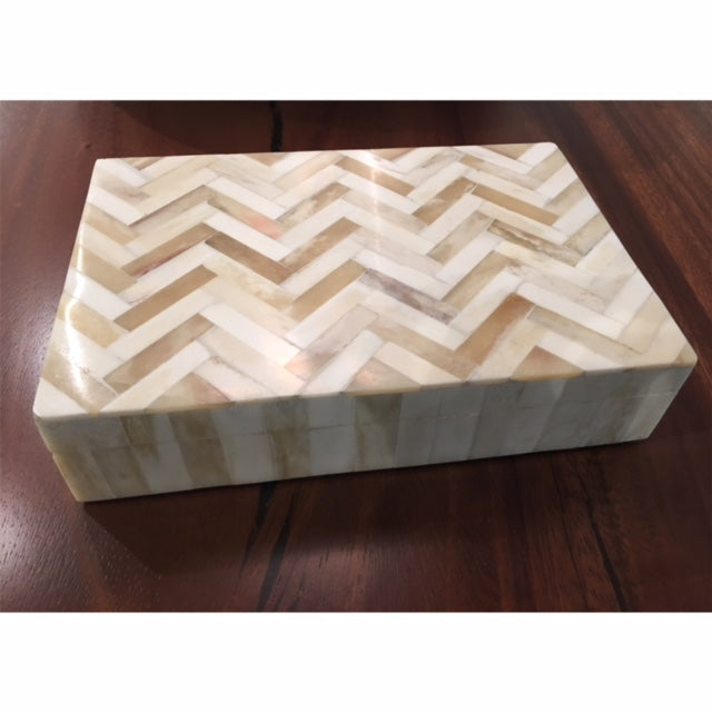 Bone Chevron Box