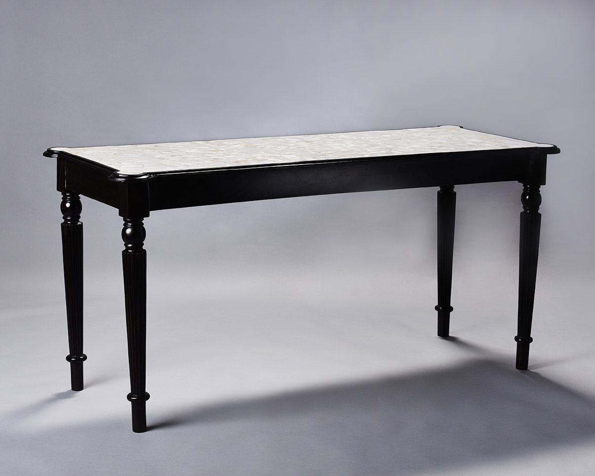 British Colonial Overlay Console Table