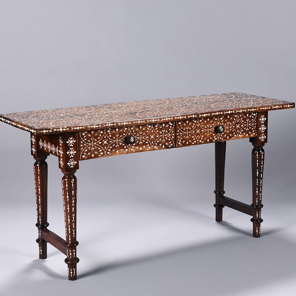 Mother of Pearl Inlay Desk / Console