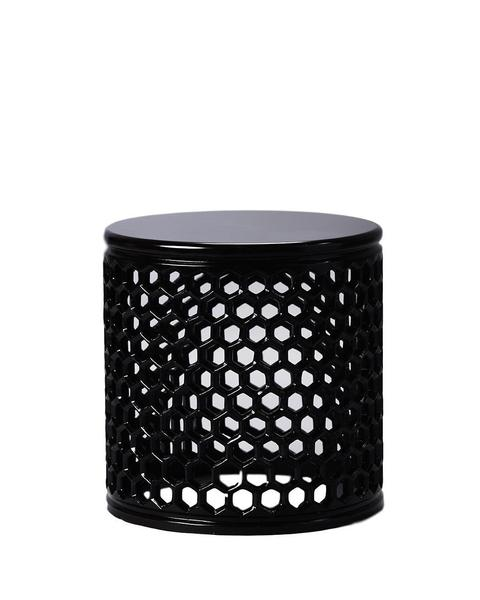 Jali Wooden Table - Hex Design