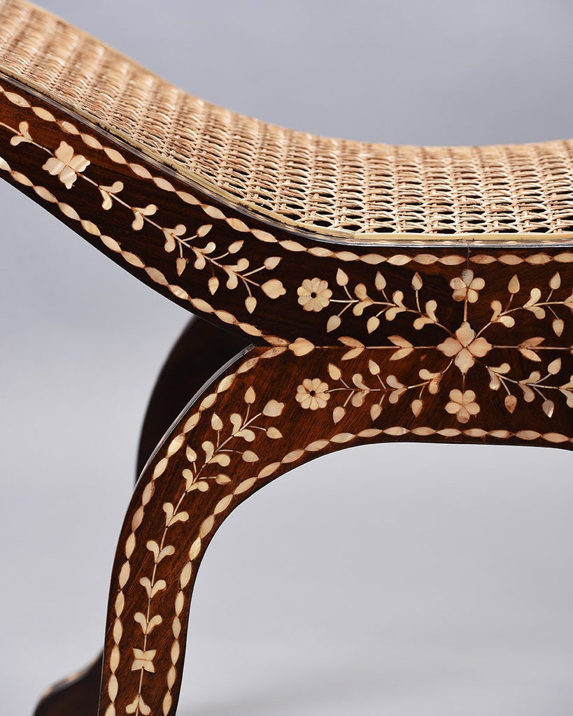 Mother of Pearl Inlaid Faulkner Bench