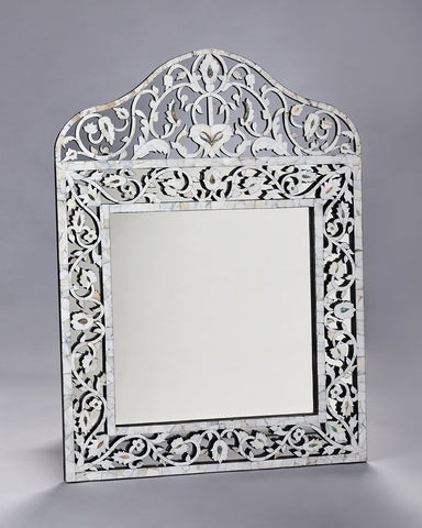 Mother of Pearl Overlay Taj Mirror -Medium