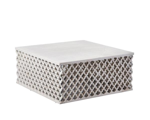 Marble Square Jali Coffee Table