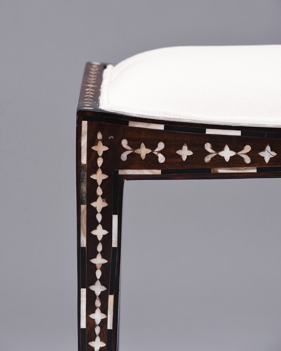 MOP Inlaid Fan Stool