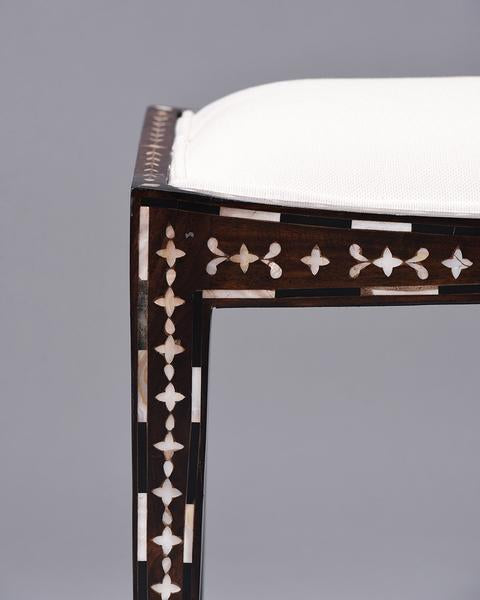 MOP Inlay Fan Stool