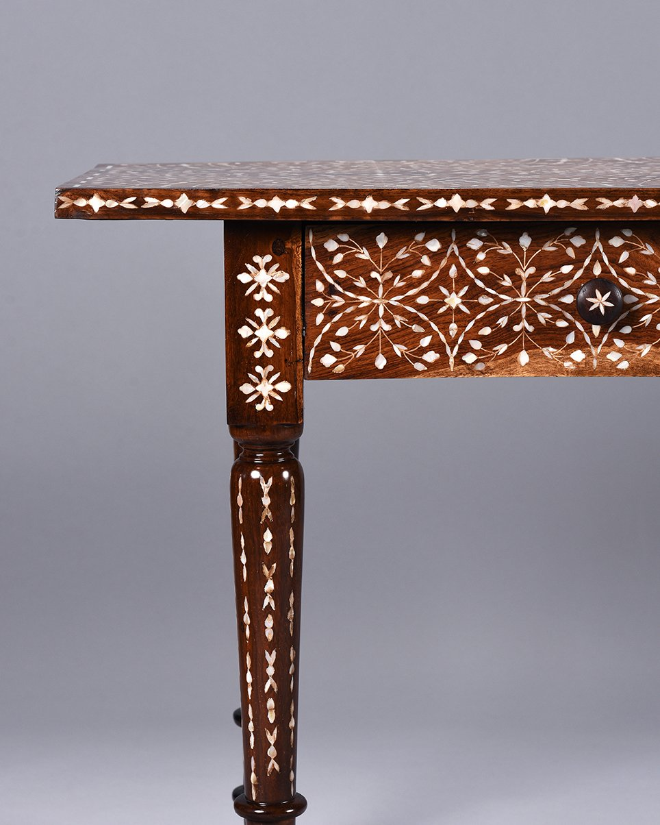 Mother of Pearl Inlaid Desk / Console