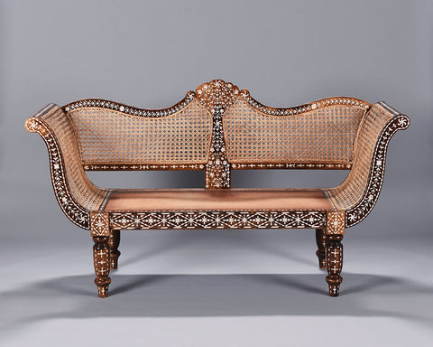 Mother of Pearl Inlaid Settee