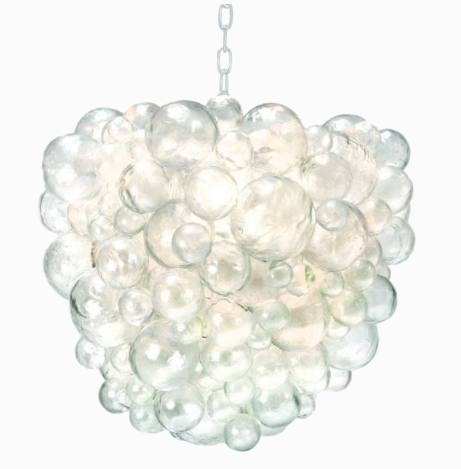 Nimbus cloud styled chandelier with Cast Resin Bubbles