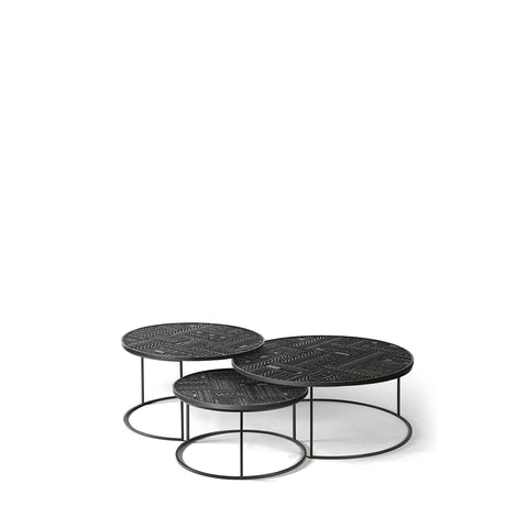 Ancestors Tabwa round nesting coffee table set of 3