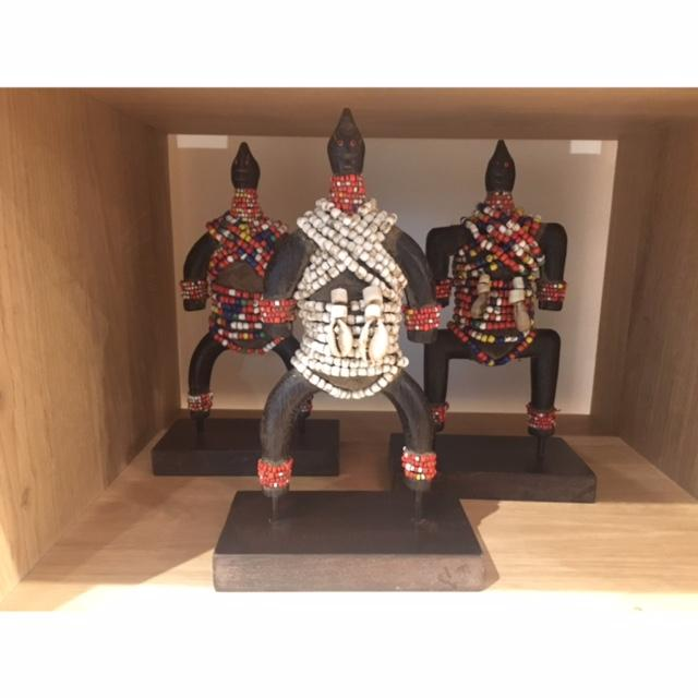 African Beaded Dolls on Stand