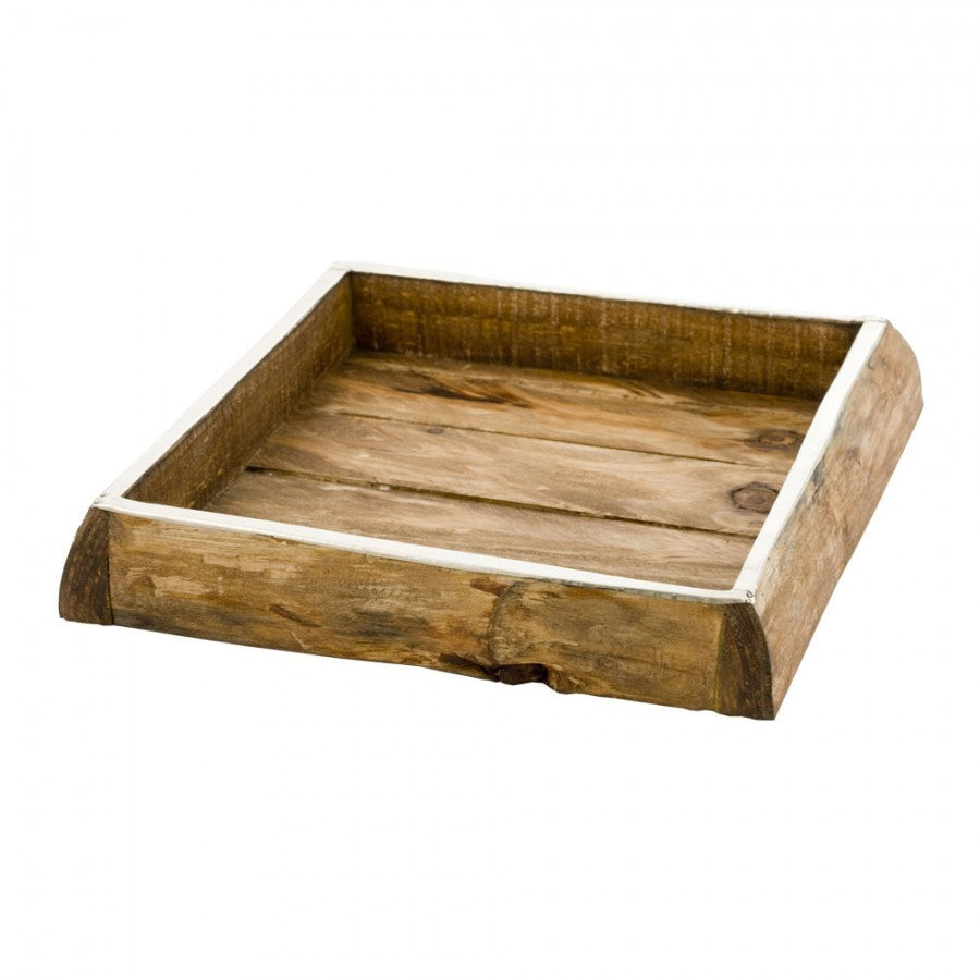 Chalten Pine and Alpaca Tray - Square